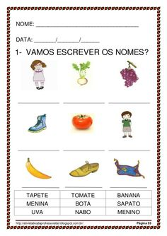 Alfabetização 28 palavras_parte I Portuguese Lessons, Thing 1, Professor, Homeschool, Activities, Education, Language Activities, Learning Activities For Kids, Preschool Literacy Activities
