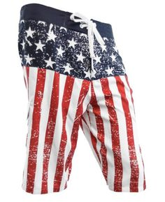 Camping on July 4th with these USA American Flag Distressed Mens Boardshorts. USA American Flag Distressed Men's Boardshorts. Because guys can never have enough boardshorts. This distressed flag look is a great way to party in casual style on your July 4th camping trip. http://www.campingforfoodies.com/celebrate-the-4th-of-july-with-fun-red-white-and-blue-recipes-and-more/