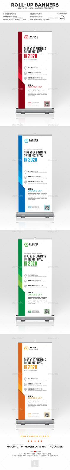 Roll-Up Banner - Signage Print Templates Rollup Banner, Signage Design, Banner Design, Banner Template, Flyer Template, Trade Show Design, Business Poster, Creative Brochure, Event Banner