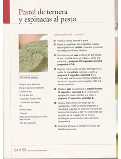 ana hdez Pesto, Album, Cardio, Beef, Spinach, Deserts, Food Art, Delicious Food, Kitchens