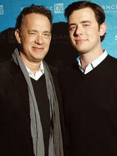 Actor/director Tom Hanks and actor son, Colin Hanks.