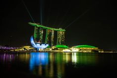 Marina Bay Sands by Night - null Marina Bay Sands, Night, Building, Photography, Travel, Photograph, Viajes, Buildings, Fotografie