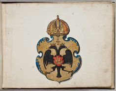 Coat of Arms of Michael I Romanov, tsar of Russia by Isaac Massa House Of Romanov, Imperial Russia, Coat Of Arms, Fairy Tales, Wonderland, Royalty, Coins, Objects, Europe