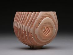 skeleton bowl with portal  bill luce  wood turned douglas fir