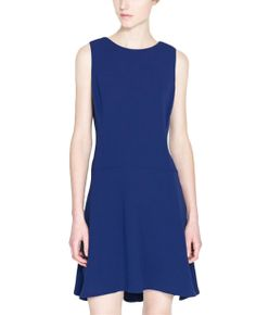 Sexy Sleeveless V-back Blue Dress | BlackFive