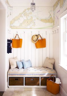 A mudroom should be a necessity at a beach house // Mud Rooms