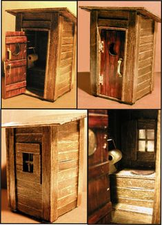 Here is an outhouse made of popsicle sticks. When I was a kid in school (1973) a guy in my class built an entire FORT out of such sticks. It was stained and varnished and looked fantastic. I built ...