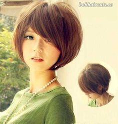 The best collection of Cute Short Hairstyles & Haircuts For Women, latest and best short hair cuts, short hair styles for 2018 - 2019 Cute Hairstyles For Short Hair, Winter Hairstyles, Short Hair Cuts For Women, Hairstyles With Bangs, Pretty Hairstyles, Asian Hairstyles, Short Haircuts, Layered Hairstyles, Hairstyle Ideas