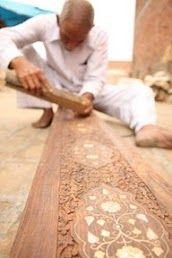 Wood carving Artisan in Saharanpur.