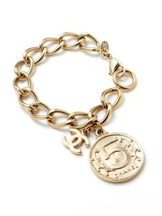 Coco No. 5 Medallion Charm Bracelet by Chanel on @Gilt Sold for $1300