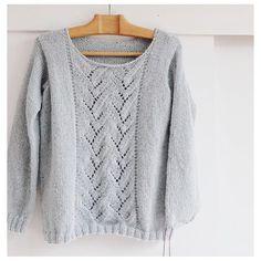 Image of Sweet Sweater version Crochet Motifs, Knit Crochet, French Pattern, Cable Knit Jumper, Knitting For Kids, Digital Pattern, Pulls, Grey Sweater, Knitwear