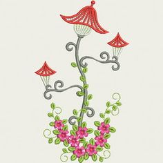 Fancy Street Lamp 02 machine embroidery designs