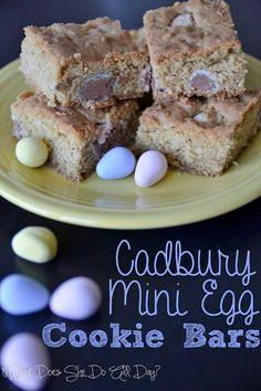 Cadbury Mini Egg Cookie Bars