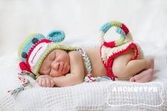 Colorful Sock Monkey Hat and Diaper Cover Set  by Emerald69