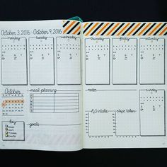 New weekly layout. #bulletjournal