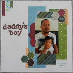 The colors on this boy scrapbook page are perfect!
