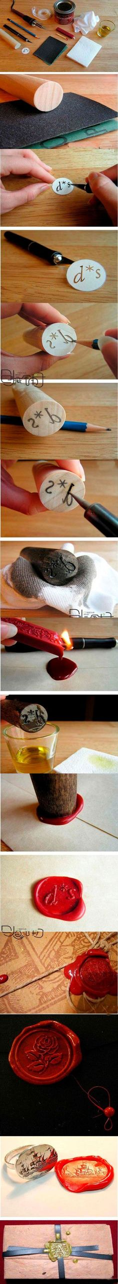 DIY Wax Seal... Use on Hogwarts acceptance letters!
