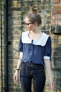 Lovely top. Big Collar Blouse from The Whitepepper.