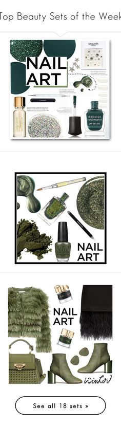 """Top Beauty Sets of the Week"" by polyvore ❤ liked on Polyvore featuring beauty, Deborah Lippmann, Zoya, Elegant Touch, MAC Cosmetics, Illamasqua, nailedit, Bobbi Brown Cosmetics, RGB and OPI"