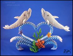 Dolphins - 3D Origami