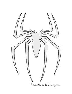 Spiderman Symbol Stencil - Visit to grab an amazing super hero shirt now on sale! Fête Spider Man, Spiderman Spider, Spiderman Bed, Free Stencils, Stencil Templates, Spiderman Stencil, Stencil Art, Stenciling, Superhero Party