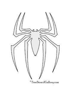 Spiderman Symbol Stencil