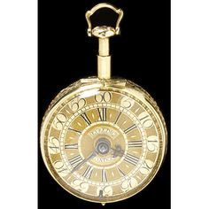 german pocket watch, ca. 1730; Grill, Antoni III (watchmaker) Pierced, engraved and chased gold