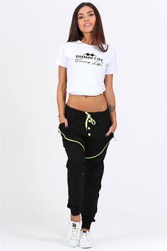 Tommy Life Düğmeli Siyah-Yeşil Manşetli Bayan Eşofman Alt Kadın Spor Giyim Modelleri, Fiyatları ve Kampanyaları