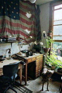 Aaron Ruff's Brooklyn studio
