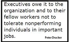 Peter Drucker Quote on Executives and management