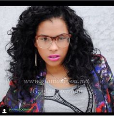 Traditional Weave with curly hair. www.glamouryou.net