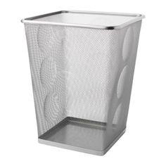 IKEA - DOKUMENT, Corbeille à papier, couleur argent,  , 5.99