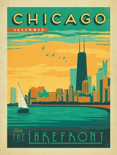 1000 images about travel posters on pinterest travel for Vintage chicago posters