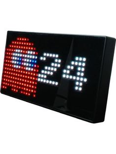 PAC-MAN Premium LED Desk Clock - 512 Vibrant LED's Display Classic Animations From the Hit Arcade Video Game - Officially Licensed Merchandise - Great 8-bit Retro Gift! ❤ Raw Thrills, Inc.