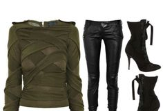 Leather Pants. Ankle Boots.