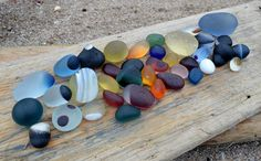 great weathered pieces of sea glass