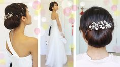 """Get Ready With Me Wedding Edition: Classic Bridal Updo Formal Event: Get Ready With Me Wedding Edition >> Elegant Classical Chignon Bun Bridal Updo Hairstyle Tutorial - with """"Light in the Box"""" Wedding Hair Accessories - by Bebexo Simple Wedding Updo, Simple Bridal Hairstyle, Bridal Hair Buns, Bridal Updo, Elegant Wedding, Updo Hairstyles Tutorials, Wedding Hairstyles Tutorial, Simple Wedding Hairstyles, Up Hairstyles"""