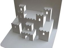 Medieval Castle Pop Up Paper Model - by Popupology  - == -  Visit Popupology website to download the template and learn how to build this nice Medieval Castle Pop Up Paper Model.