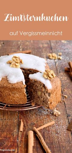 Dekoriert mi… A juicy cinnamon star cake simply baked with cinnamon and nuts. Decorated with delicious cinnamon stars. The cinnamon cake goes perfectly with Christmas. Southern Recipes, Sweet Recipes, Cake Recipes, Cinnamon Cake, Star Cakes, Cakes And More, Christmas Baking, Baked Chicken, No Bake Cake