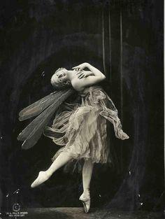 "back-then: ""Anna Pavlova as 'Dragonfly' 1914 """