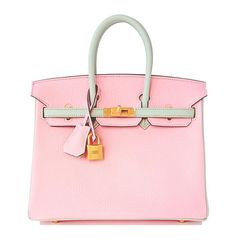 c3ed3fb2c0d5 View this item and discover similar top handle bags for sale at - HSS Hermes  Rose Sakura Gris Perle Chevre Birkin Special Order Horseshoe Stamp  Exclusive ...