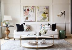 Copy Cat Chic: Copy Cat Chic Room Redo | Eclectic & Feminine Living Space