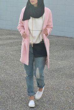 Boyfriend jeans with hijab-Hijab style 2017 – Just Trendy Girls