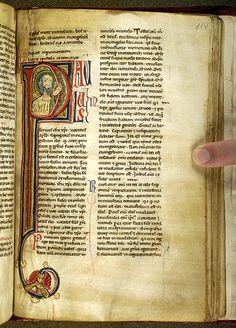 Paul -- Morgan G12, f. 144r (c. 1200)