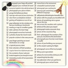 Travel Photo Checklist  Spaceship Earth Vacation And Free