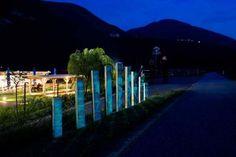Segnaletica fotoluminescente in ciclabile Presentato al Bicigrill di Faedo la soluzione per illuminare le piste di notte degli studenti di ingegneria Zantedeschia, Urban Landscape, Wind Turbine, Tourism