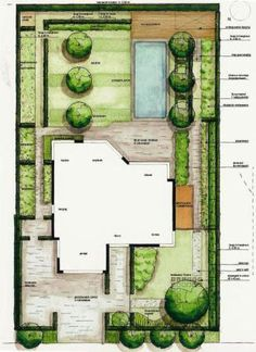 Love Your Lawn: Landscaping Ideas And Inspiration - House Garden Landscape Landscape Sketch, Landscape Design Plans, Garden Design Plans, Landscape Architecture Design, Site Development Plan Architecture, Architecture Site Plan, Nightclub Design, Plan Sketch, Backyard Patio Designs