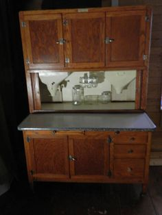 This rare cabinet was only made for about a year and was called the Big Hoosier in advertisements from the time.It was 48 inches wide,72 inches tall,and 27 inches deep .It was loaded with everything you could want in a hoosier cabinet such as large flour sifter,a pull out sugar bin, a
