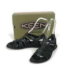 db9ea4845b3b Keen Womens Black Alman Gladiator Strappy Sandals US 9 Ankle Strap  Fisherman  KEEN  Gladiator