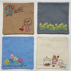 처음 만들어본 티매트~~❤ 작다고 쉬운게 아니네  이게 모라고 이리도 도안 고민이 되는지   #프랑스자수 #자수 #자수타그램 #티매트  #embroidery #sewing #handmade #needlework Simple Embroidery, Japanese Embroidery, Hand Embroidery Stitches, Embroidery Designs, Diy Coasters, Sewing Table, Wool Applique, Mug Rugs, Cross Stitch